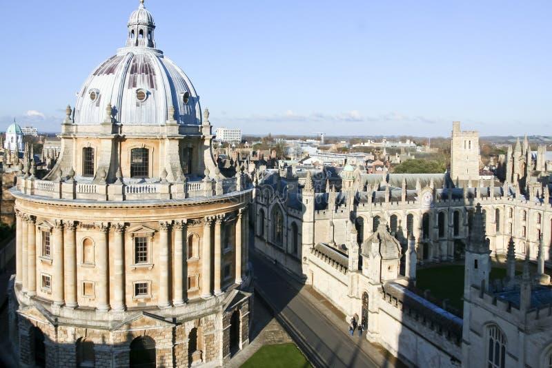Bodleian bibliotecznego budynku uniwersytet oksford linia horyzontu obraz stock