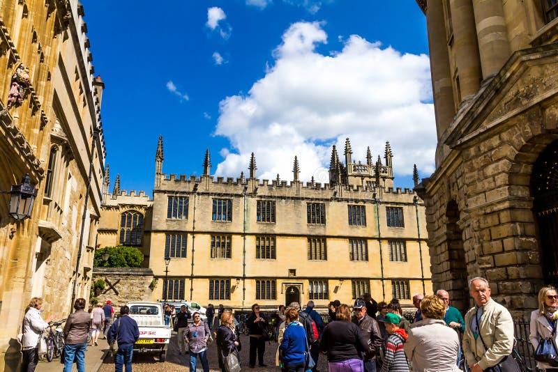 Bodleian biblioteki oxford obraz royalty free