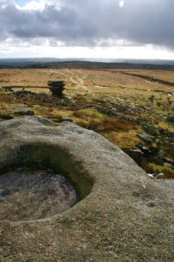 Bodmin Moor in Cornwall stock photography