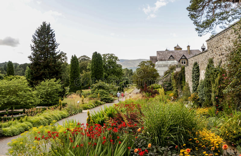 Bodnant garden in Wales royalty free stock image
