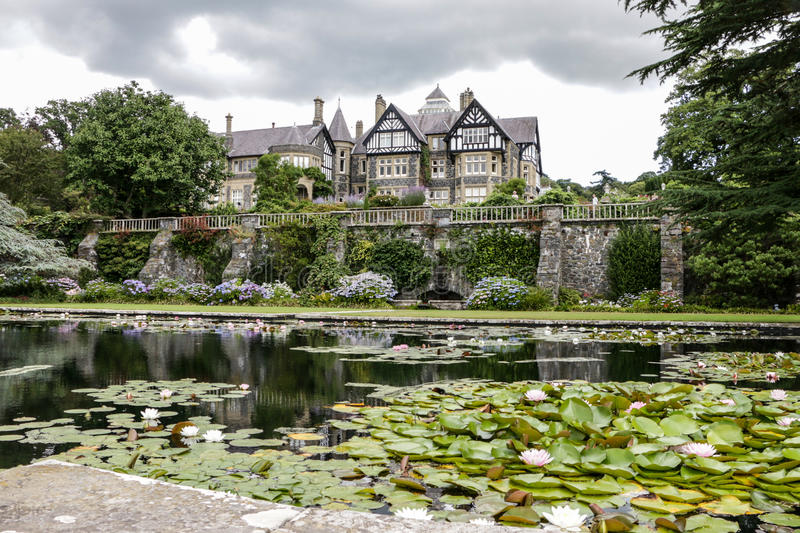 Bodnant garden in Wales stock photography