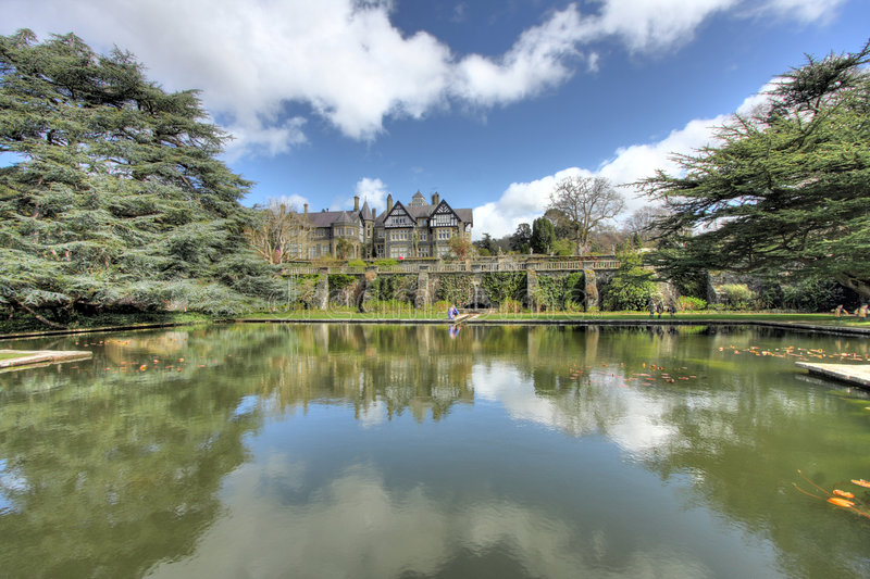 Download Bodnant House in Spring stock image. Image of flowers - 9191669