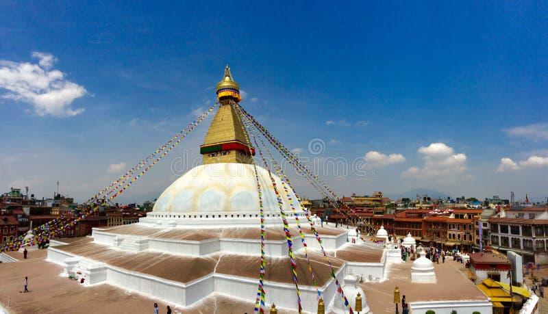 Bodnath在尼泊尔 免版税库存照片