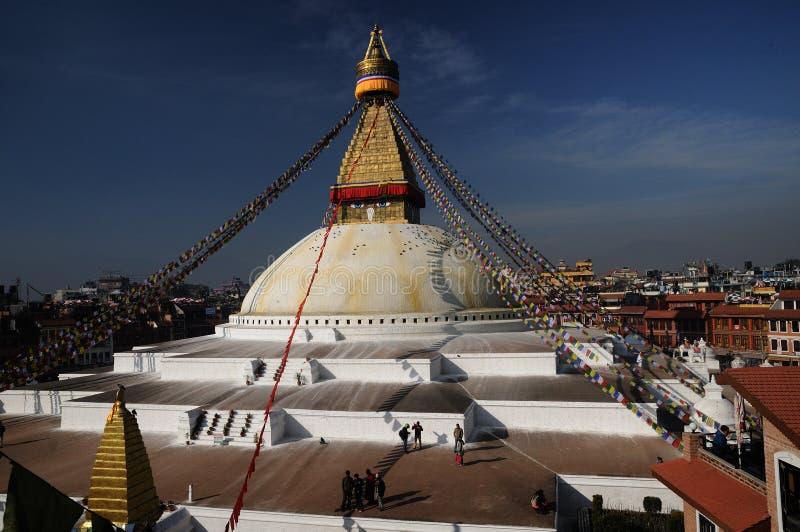 Bodnath Stupa Kathmandu lizenzfreie stockfotos