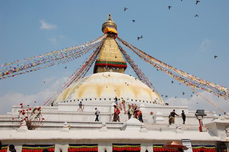 Bodnath stupa w Kathmandu, Nepal obrazy royalty free