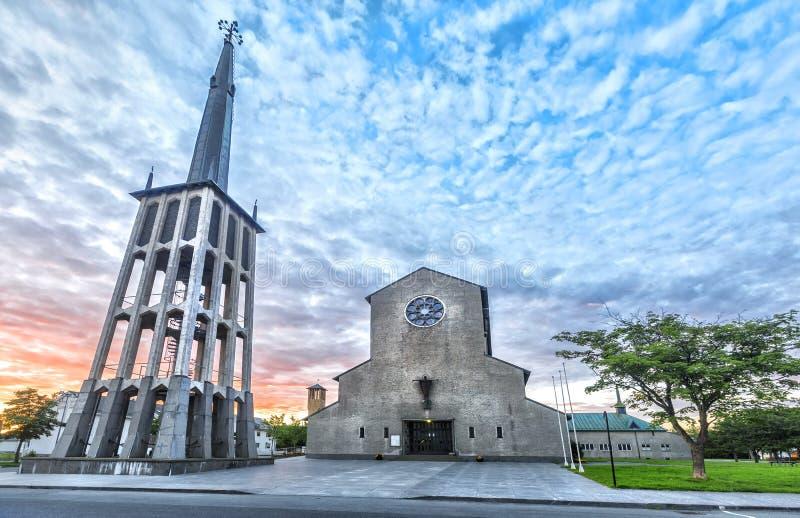 Bodo Cathedral en el condado de Nordland, Noruega imagen de archivo