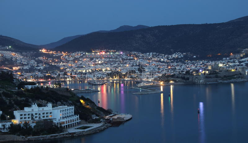 Bodrum. View from a hill stock image
