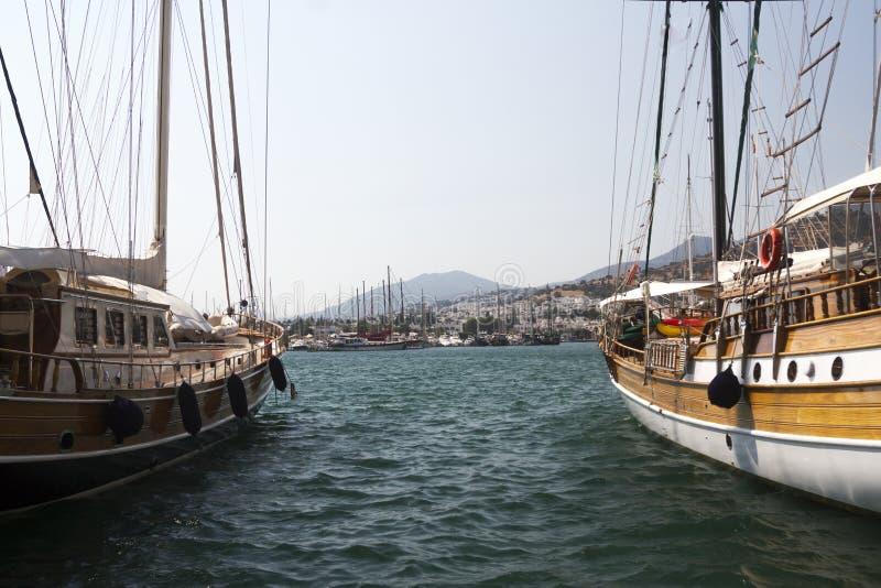 Bodrum, Ansicht von Mugla, die Türkei stockbild