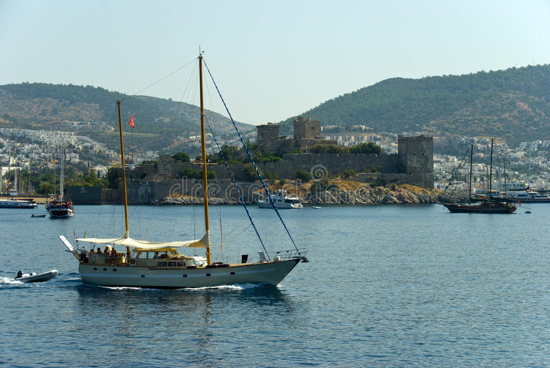 Bodrum castle. View from the sea, Turkey royalty free stock photos