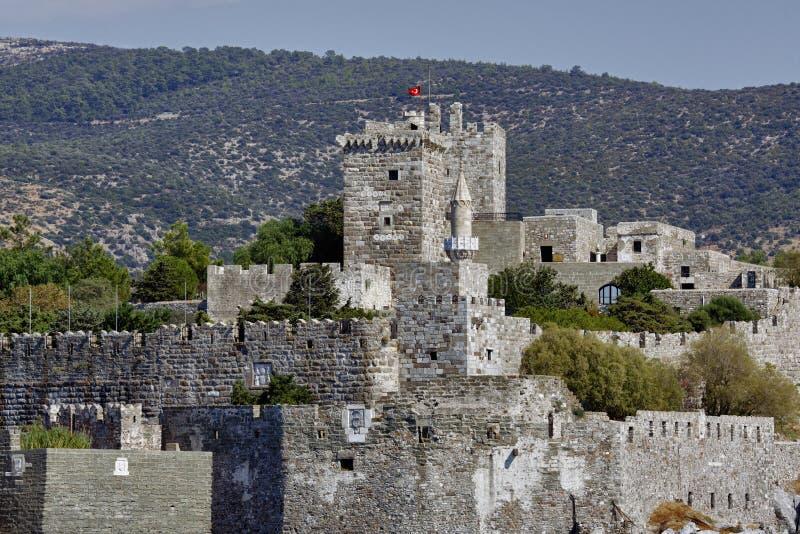 Bodrum Castle. The Bodrum Castle in Turkey stock photo