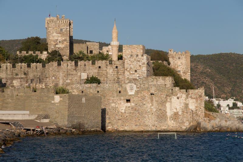 Bodrum Castle. In Aegean Coast of Turkey stock images