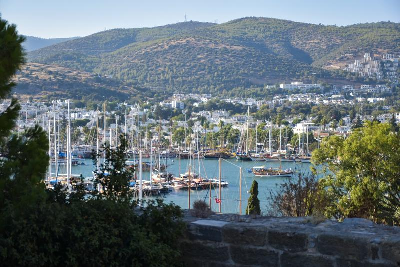 Bodrum castle and Aegean Sea. Turkey  turkey royalty free stock images