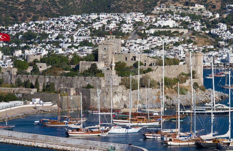 Bodrum Castle. In Aegean Turkey royalty free stock photos
