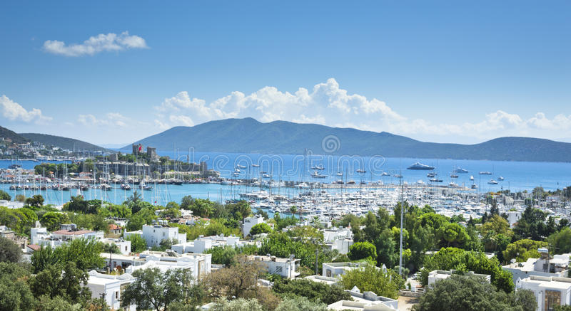 Bodrum. Castle and Harbour , landscaped image stock photo