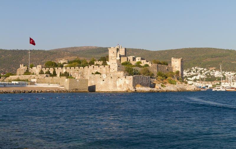 Bodrum Castle from Mugla. Turkey stock photo
