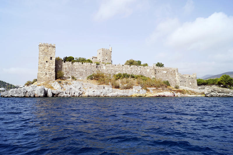 Bodrum castle. From the sea royalty free stock photography