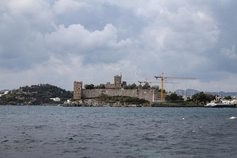 Bodrum Castle in Turkey. Bodrum Castle in Aegean Coast of Turkey royalty free stock photography