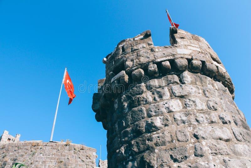 Bodrum castle in Turkey. Bodrum castle in Bodrum, Turkey royalty free stock photos