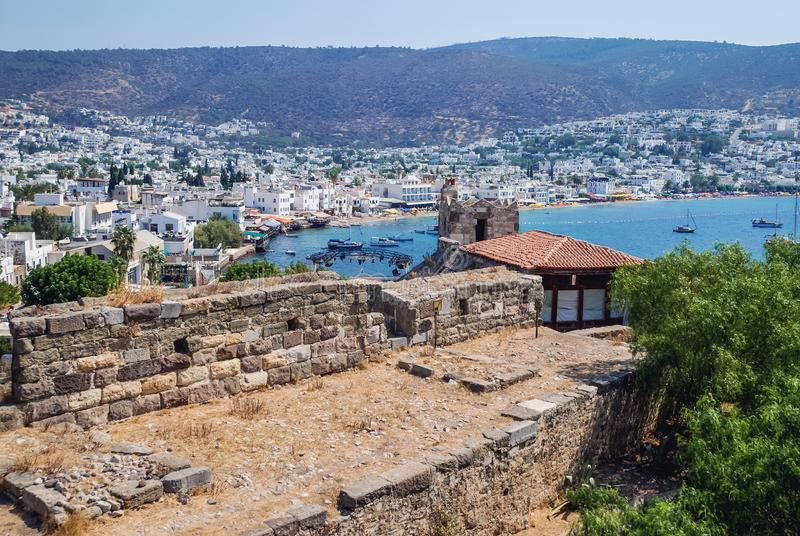 Bodrum fortress in Turkey. Bodrum fortress historical fortification located in the port city of Bodrum, Turkey stock photo