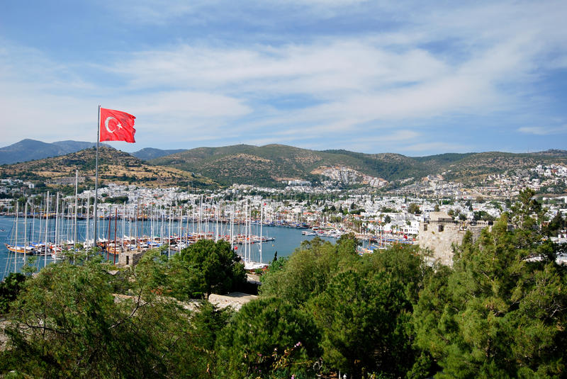 The Bodrum town. Tourism in Bodrum in Turkey stock images
