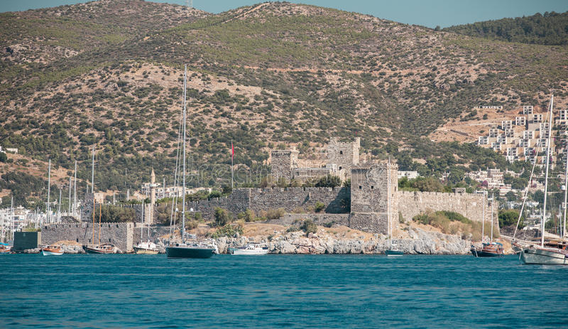 Bodrum Turkey. Bodrum Castle in Bodrum Turkey stock photo