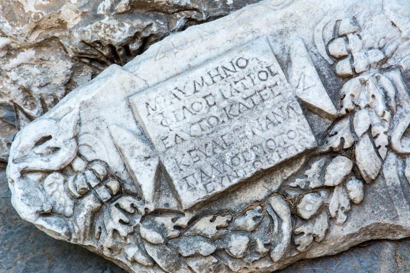 Detail of an ancient Roman marble sculpture stock photos