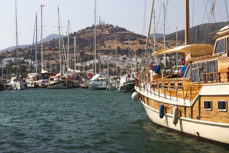 Bodrum, visión desde Mugla, Turquía fotos de archivo