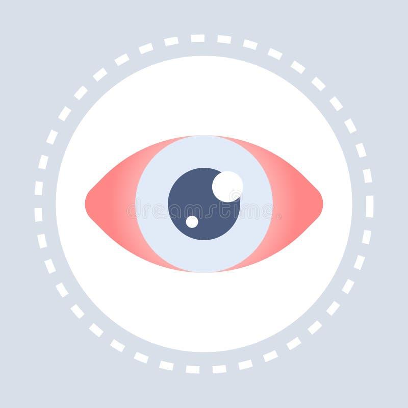 Body anatomy human eye icon healthcare medical service logo medicine and health symbol concept flat. Vector illustration vector illustration