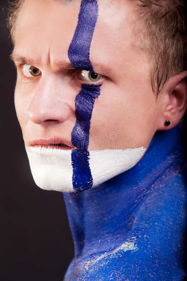 Download Body-art on face stock photo. Image of make, handsome - 22999612