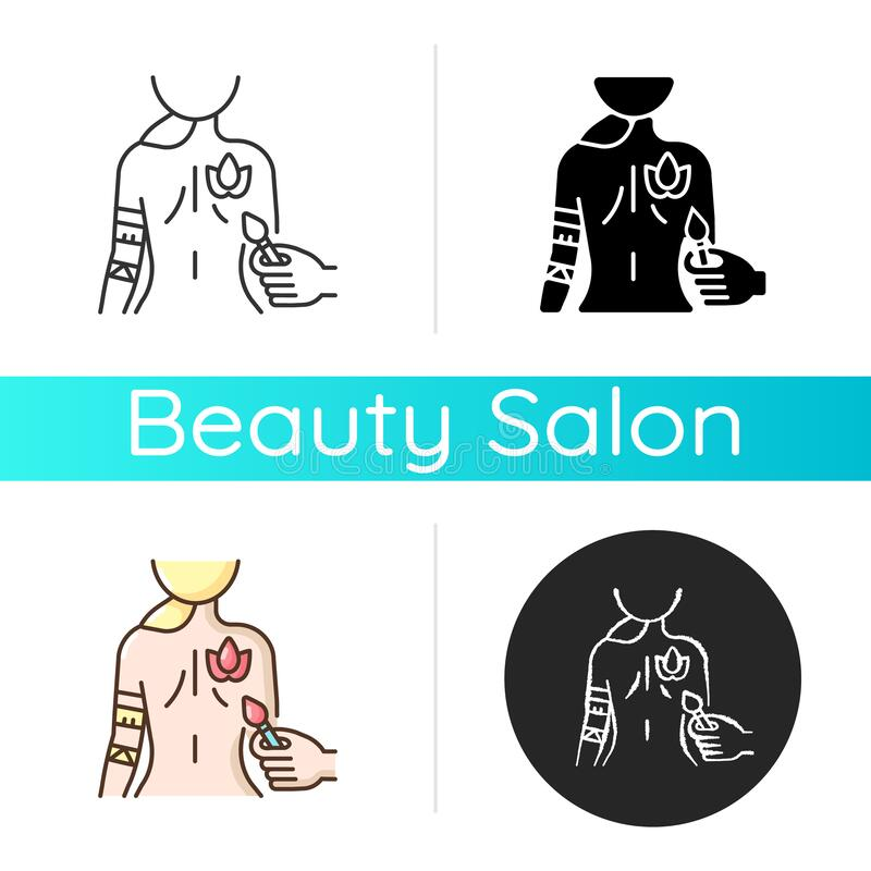 Body Art Icon Stock Vector Illustration Of Illustration 194482524