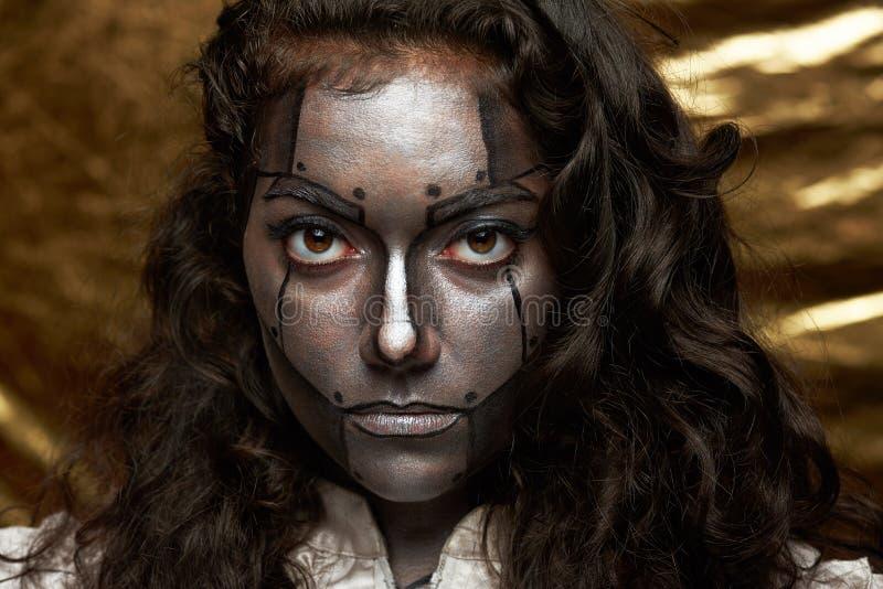 Body art sul fronte delle donne immagini stock libere da diritti