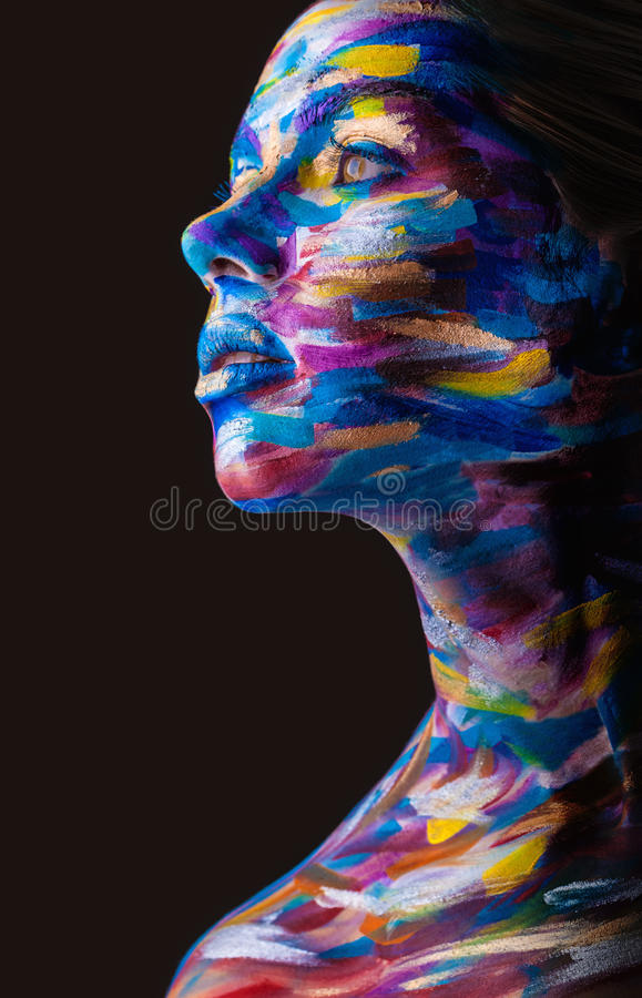 Body art royalty free stock image