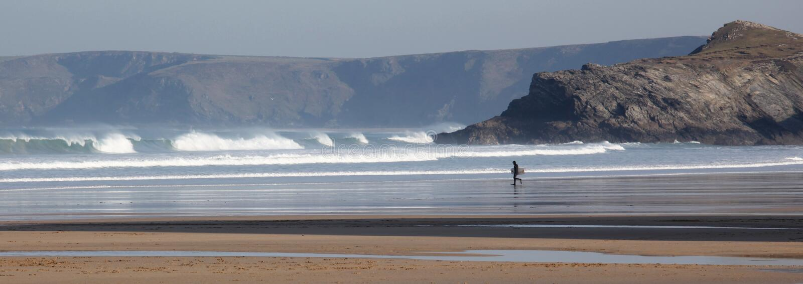 Download Body Boarder At Porth Beach Stock Image - Image: 23444127