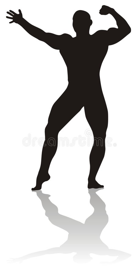 Body builder vector illustration