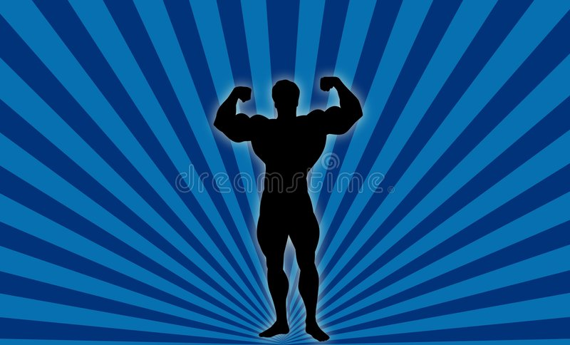 Download Body Builder ! stock illustration. Image of silhouette - 1797151
