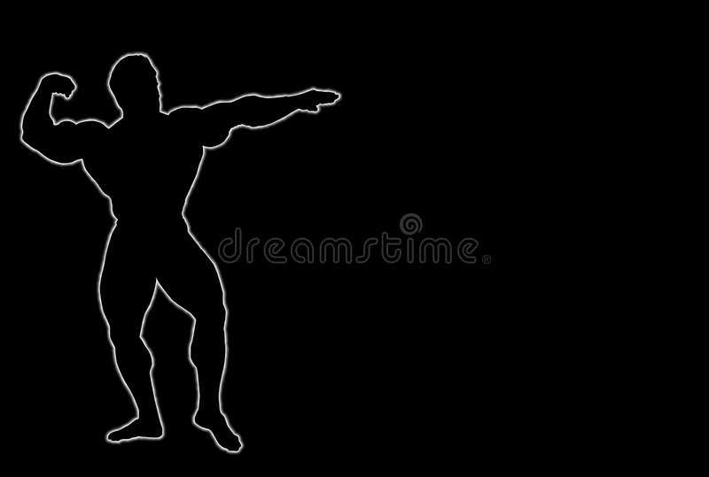 Download Body Builder stock illustration. Image of pose, iron, abnormal - 4990530