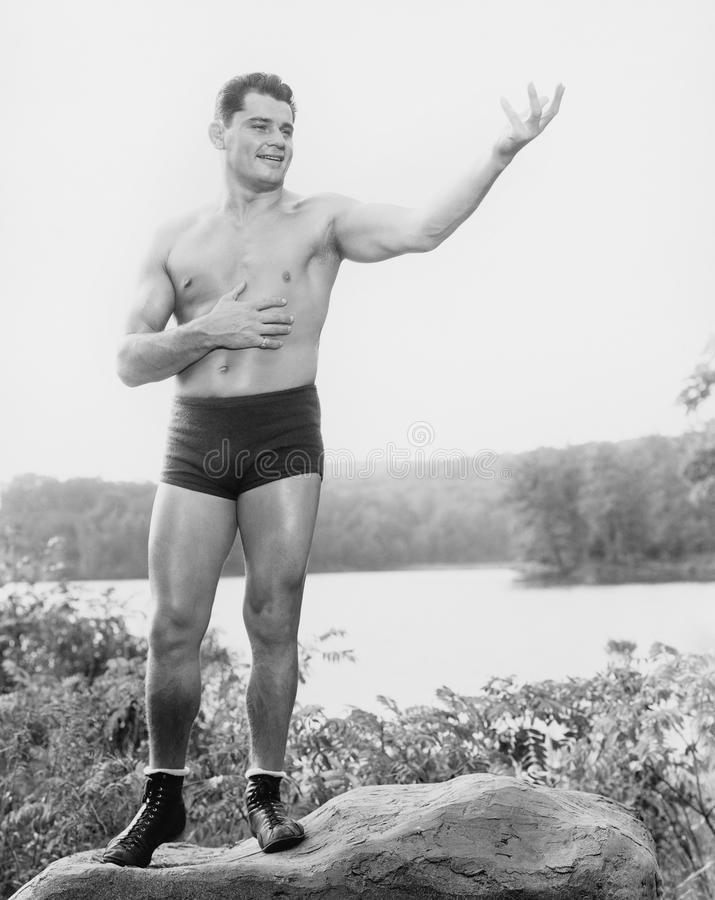 BODY BUILDER. (All persons depicted are no longer living and no estate exists. Supplier grants that there will be no model release issues stock images