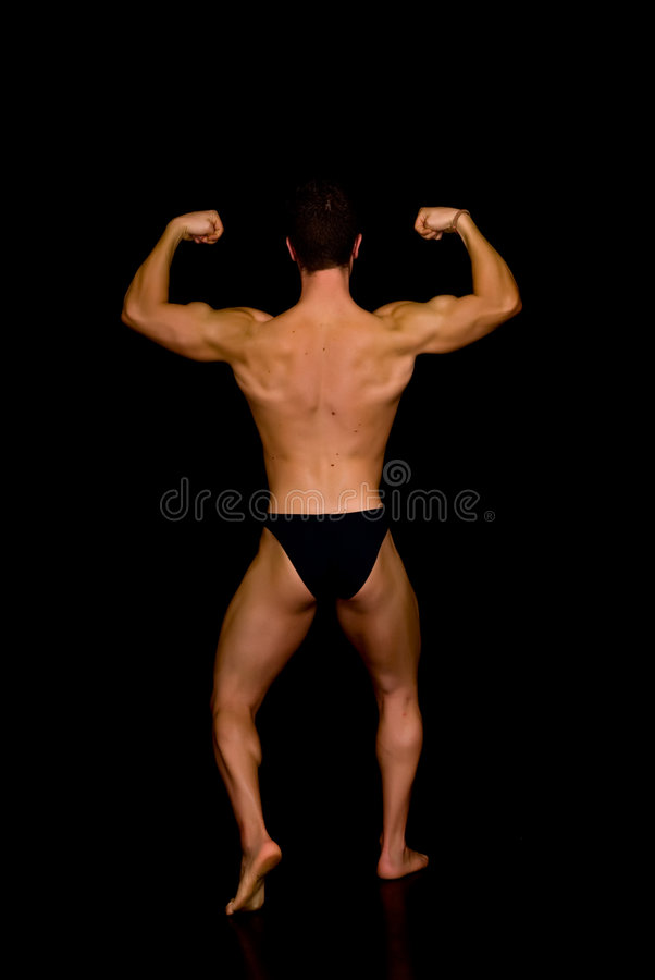 Body Builder, contest pose royalty free stock photo