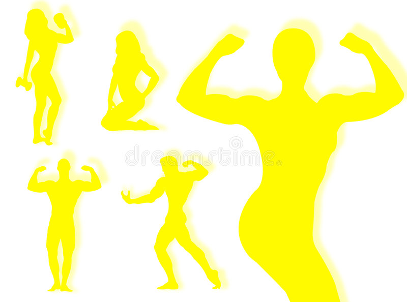 Download Body builder silhouette stock illustration. Image of elasticity - 7694623