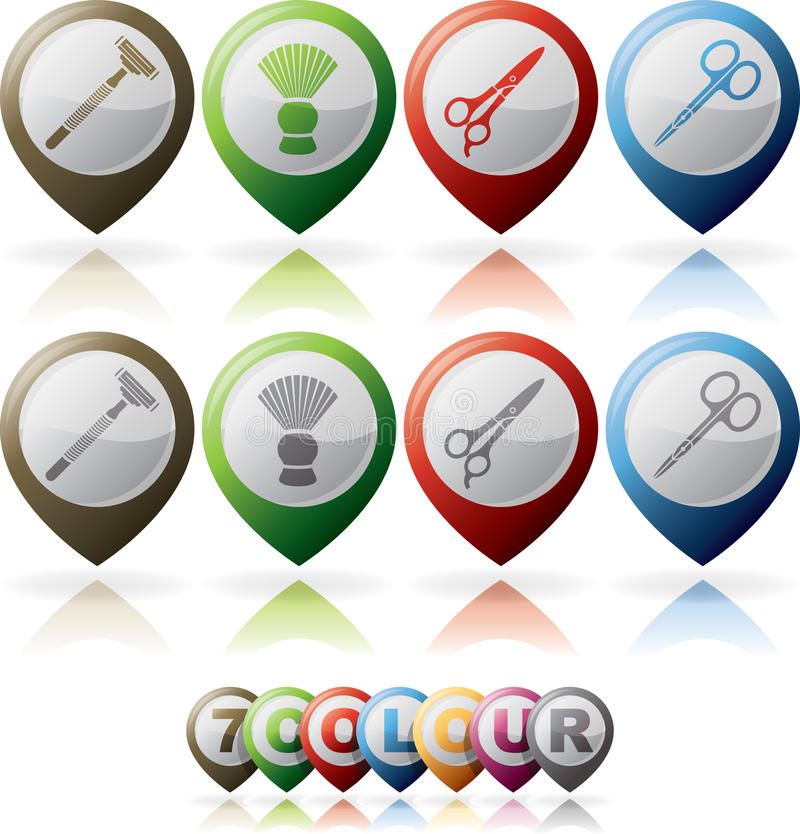 Download Body care stock vector. Image of icon, grey, manicure - 25571201