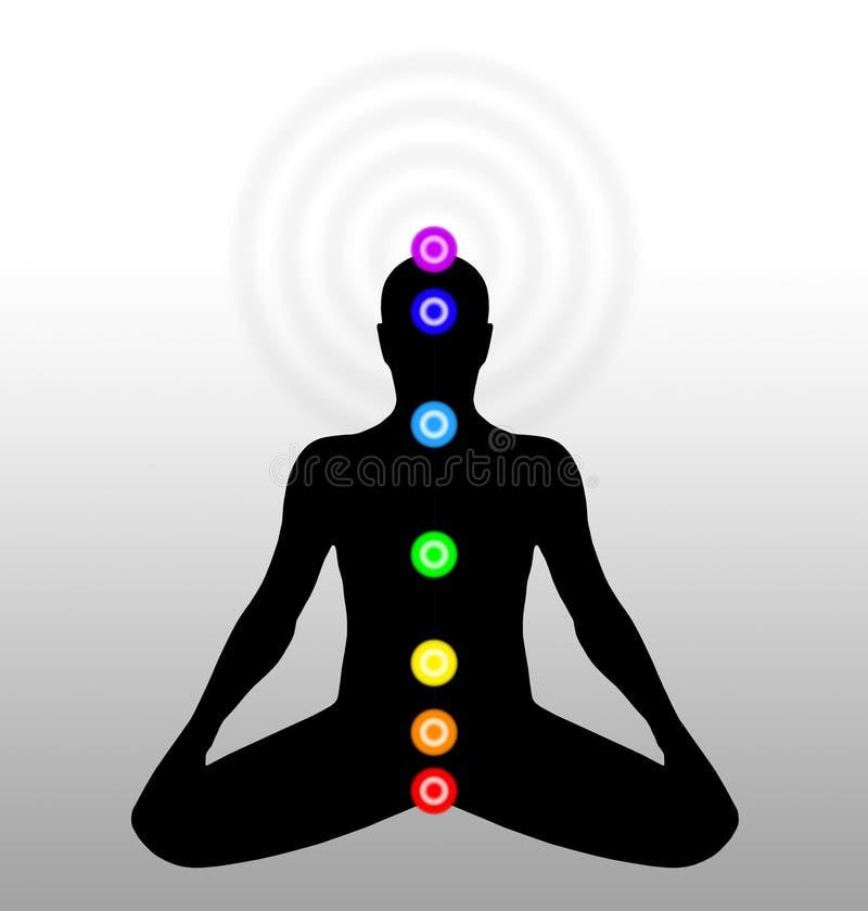 Body chakras. Seven chakras on a human body