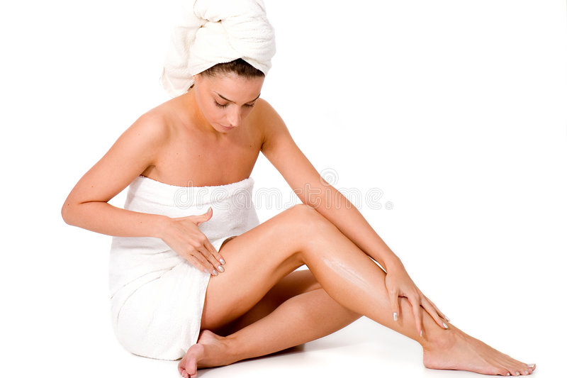 Download Body creme application stock photo. Image of caucasian - 3529098