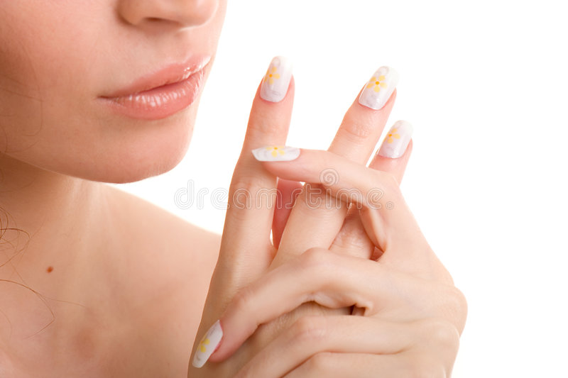 Download Body creme application stock image. Image of healthy, beauty - 6734087