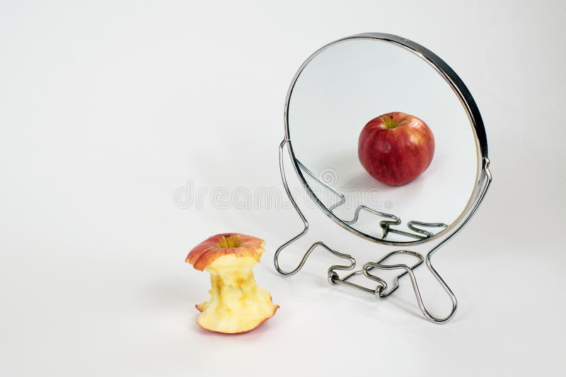 Body Dysmorphia, Anorexia, Bulimia. Photo Concept Portraying Body Dysmorphic Disorder, Bulimia, Anorexia Nervosa, Binge Eating royalty free stock image
