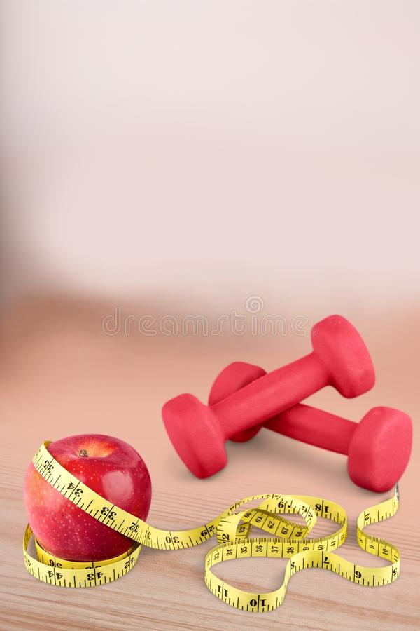 Body fitness. Exercise health measure measurement physical sew stock images