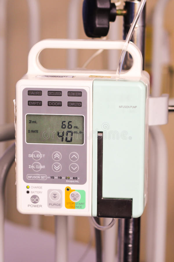 Free Body Fluid Infusion Pump Stock Image - 26929891