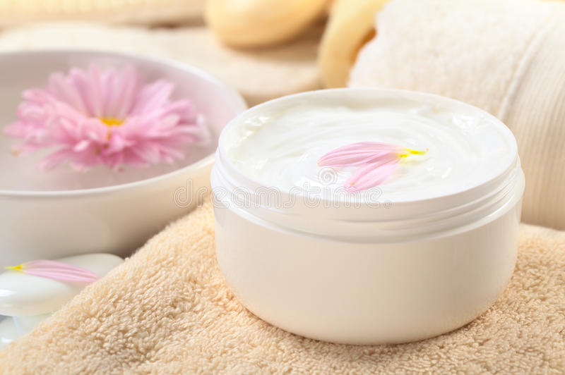 Body, Hand and Face Cream royalty free stock photography