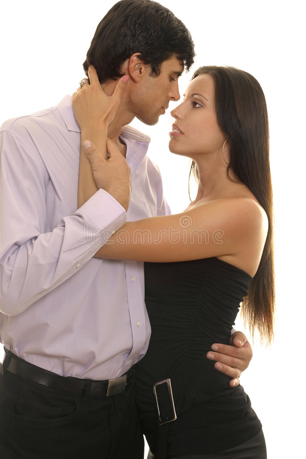 Body Language. Eye contact, self expression, love, romance stock photography