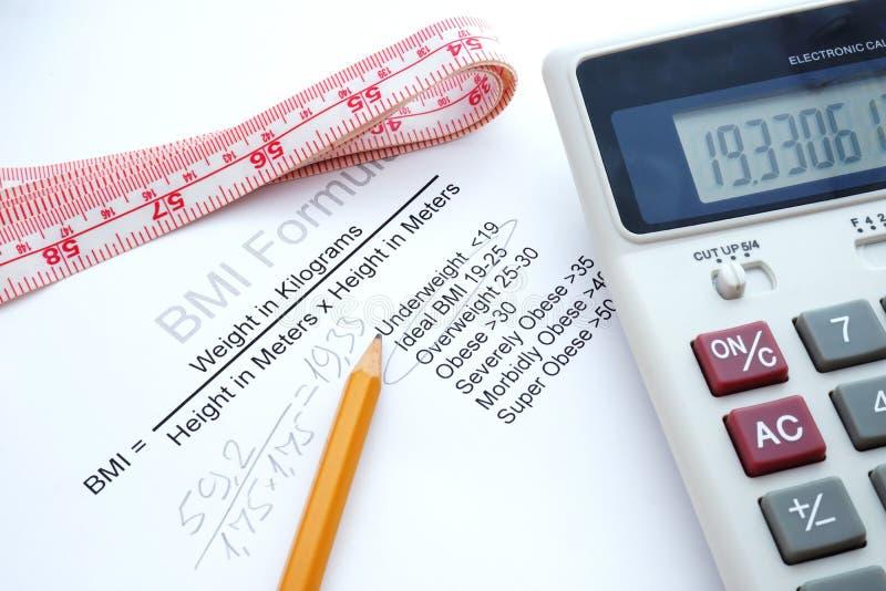 Body-Maß-Index BMI lizenzfreie stockfotografie