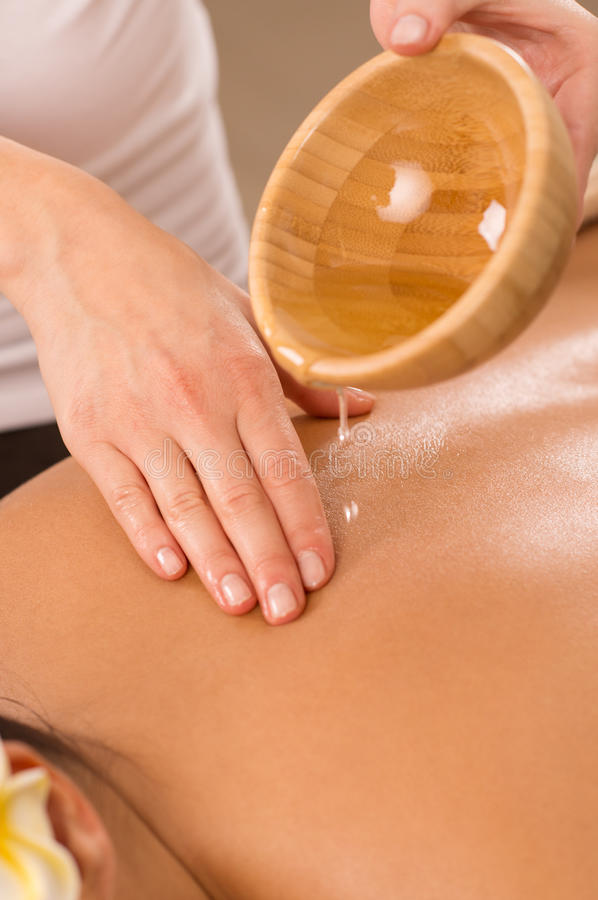 Body Massage With Oil stock images